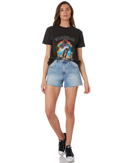 WASHED BLACK WOMENS CLOTHING WRANGLER TEES - W-951629-M84WBLK