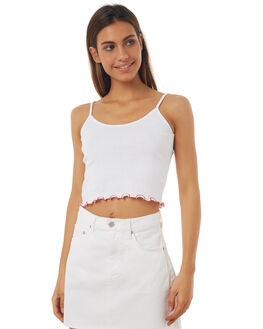 WHITE WOMENS CLOTHING ALL ABOUT EVE SINGLETS - 6403122WHT