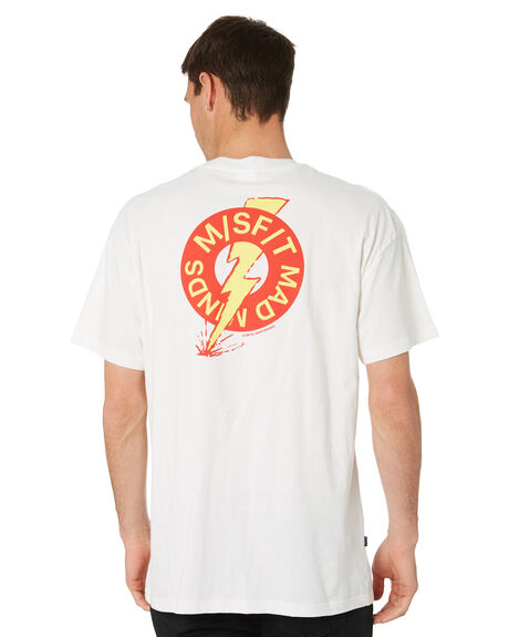WASHED WHITE MENS CLOTHING MISFIT TEES - MT011015WSWHT