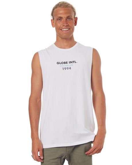 WHITE OUTLET MENS GLOBE SINGLETS - GB01722006WHT
