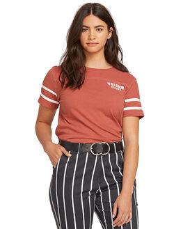 DARK CLAY WOMENS CLOTHING VOLCOM TEES - CB0111905DCL