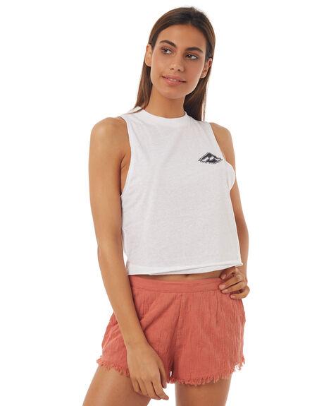 WHITE WOMENS CLOTHING BILLABONG SINGLETS - 6572194WHT