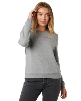 DARK GREY HEATHER WOMENS CLOTHING HURLEY JUMPERS - CI2857-063