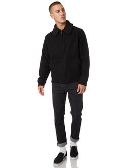 BLACK MENS CLOTHING AFENDS JACKETS - M191584BLK