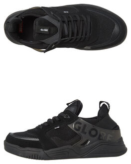 TRIPLE BLACK MENS FOOTWEAR GLOBE SNEAKERS - GBTILTEVO20374