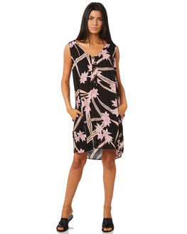 BLACK WOMENS CLOTHING RUSTY DRESSES - DRL0941BLK