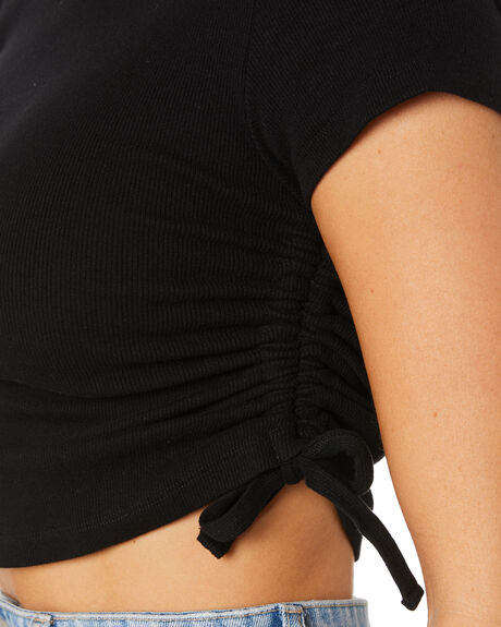 BLACK WOMENS CLOTHING SWELL TEES - S8221005BLK
