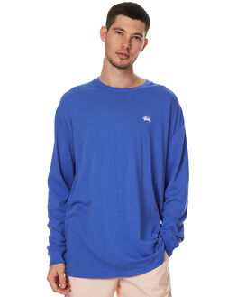 ROYAL BLUE MENS CLOTHING STUSSY TEES - ST071003RBLU