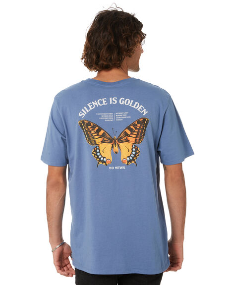 LIBERTY BLUE MENS CLOTHING NO NEWS TEES - N5222002LBLU