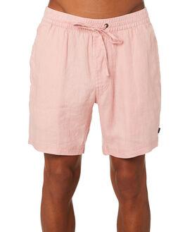 PINK LINEN MENS CLOTHING BARNEY COOLS SHORTS - 614-CC3PNKLI