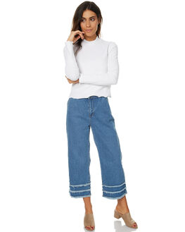 BLEACH DISTRESSED WOMENS CLOTHING THE HIDDEN WAY PANTS - H8173192BLD