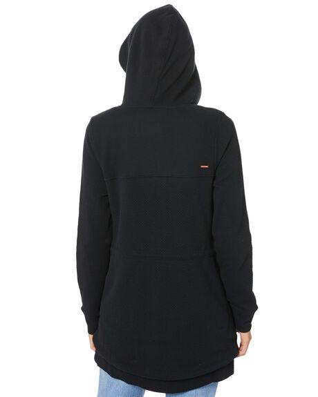 WASHED BLACK WOMENS CLOTHING VOLCOM JUMPERS - B3112076WSB
