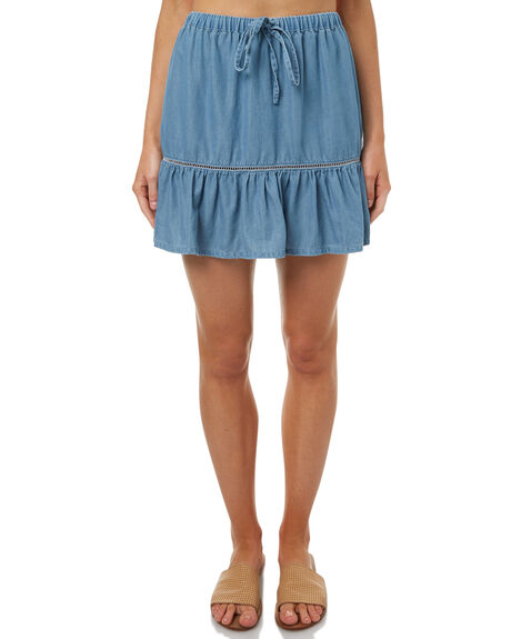 DENIM WOMENS CLOTHING RHYTHM SKIRTS - OCT17W-SK01DEN