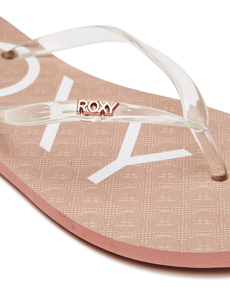 ROSE GOLD WOMENS FOOTWEAR ROXY THONGS - ARJL100915RSG