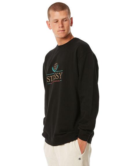 BLACK MENS CLOTHING STUSSY JUMPERS - ST085209BLK