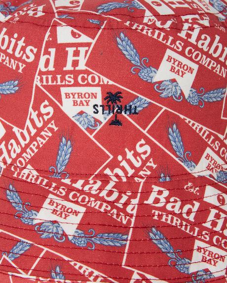 RED MENS ACCESSORIES THRILLS HEADWEAR - TS20-501HRED