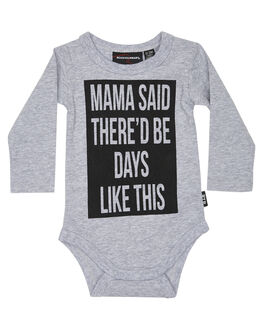 GREY MARLE KIDS BABY ROCK YOUR BABY CLOTHING - BBB1934-MSGRYM