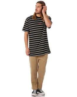 BLACK MENS CLOTHING STUSSY TEES - ST082100BLK