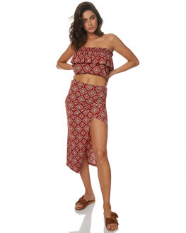 RUST RED WOMENS CLOTHING TIGERLILY SKIRTS - T372276RRD