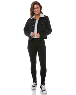 VINTAGE BLACK WOMENS CLOTHING ELWOOD JACKETS - W82503AAG
