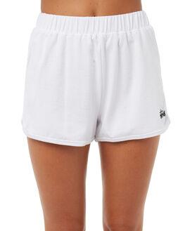 WHITE WOMENS CLOTHING STUSSY SHORTS - ST173601WHT