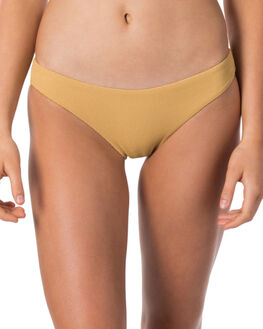 GOLD WOMENS SWIMWEAR RIP CURL BIKINI BOTTOMS - GSI0K90146