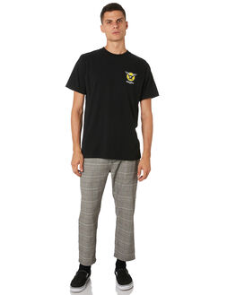 BLACK MENS CLOTHING THRILLS TEES - TH9-124BBLK