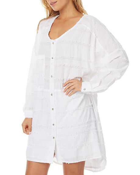 WHITE WOMENS CLOTHING ZULU AND ZEPHYR DRESSES - ZZ1359WHT