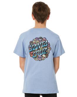 PALE BLUE KIDS BOYS SANTA CRUZ TEES - SC-YTC8094PBLU