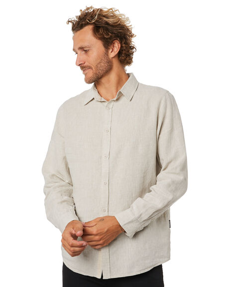 NATURAL MENS CLOTHING MR SIMPLE SHIRTS - M-05-31-10NAT