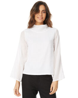 WHITE WOMENS CLOTHING THE BARE ROAD FASHION TOPS - 791151-01WHT