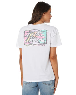 WHITE WOMENS CLOTHING RUSTY TEES - TTL0970-WHT