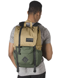 TAN MUTED GREEN MENS ACCESSORIES JANSPORT BAGS + BACKPACKS - JS00TAN1-JS4E7
