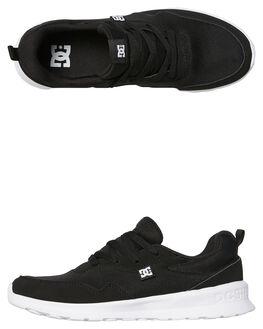 BLACK WHITE MENS FOOTWEAR DC SHOES SNEAKERS - ADYS700140BKW