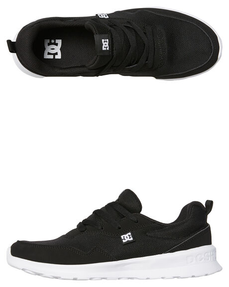BLACK WHITE MENS FOOTWEAR DC SHOES SNEAKERS - ADYS700140BKW