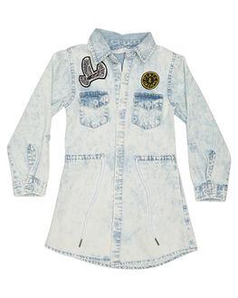 BLEACHED BLUE KIDS TODDLER GIRLS MUNSTER KIDS DRESSES - MM172DR09BLCH
