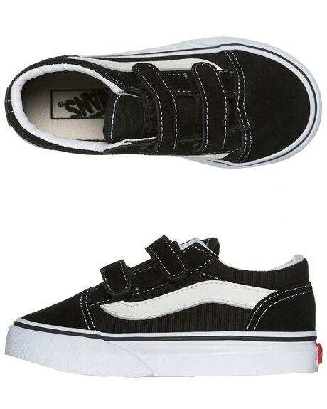 BLACK KIDS BOYS VANS FOOTWEAR - VN-0D3YBLK