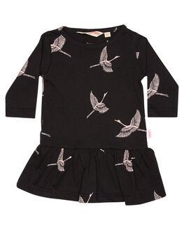 SOFT BLACK KIDS BABY MUNSTER KIDS CLOTHING - LM172DR03SFTBK
