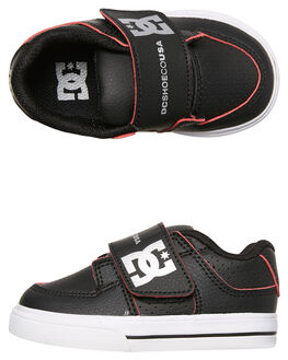BLACK RED WHITE KIDS TODDLER BOYS DC SHOES FOOTWEAR - ADTS300028XKRW