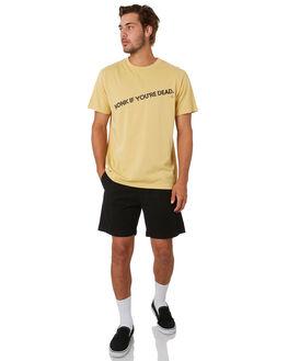HERITAGE YELLOW MENS CLOTHING THRILLS TEES - TA20-109KHTYEL