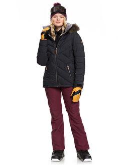 TRUE BLACK BOARDSPORTS SNOW ROXY WOMENS - ERJTJ03227-KVJ0