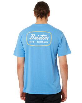 WASHED ROYAL MENS CLOTHING BRIXTON TEES - 06433WAROY