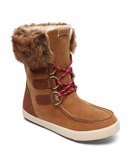 BROWN BOARDSPORTS SNOW ROXY BOOTS + FOOTWEAR - ARJB300018-BRN