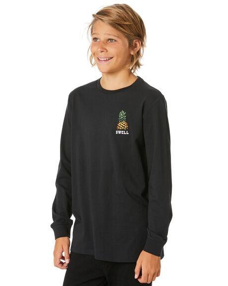 BLACK KIDS BOYS SWELL TOPS - S3204104BLACK
