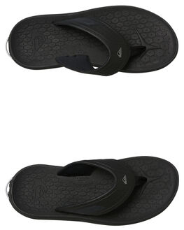 BLACK BLUE MENS FOOTWEAR QUIKSILVER THONGS - AQYL100694XKBK