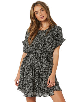 BLACK COMBO WOMENS CLOTHING FREE PEOPLE DRESSES - OB921632-0098