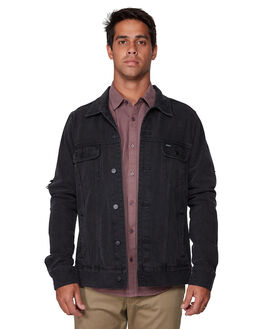 VINTAGE BLK MENS CLOTHING RVCA JACKETS - RV-R183446-VBC