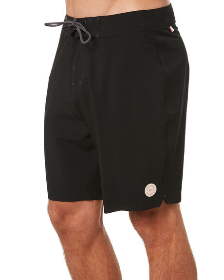 BLACK MENS CLOTHING GLOBE BOARDSHORTS - GB02136002BLK