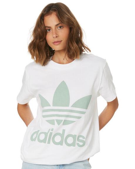 BLUSH GREEN WOMENS CLOTHING ADIDAS ACTIVEWEAR - DH4428WHT