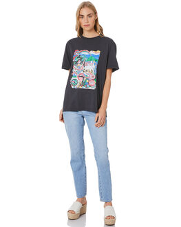 WASHED BLACK WOMENS CLOTHING THE HIDDEN WAY TEES - H8204002WSHBK